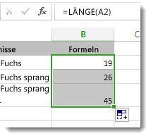 Excel Buchstaben Zählen